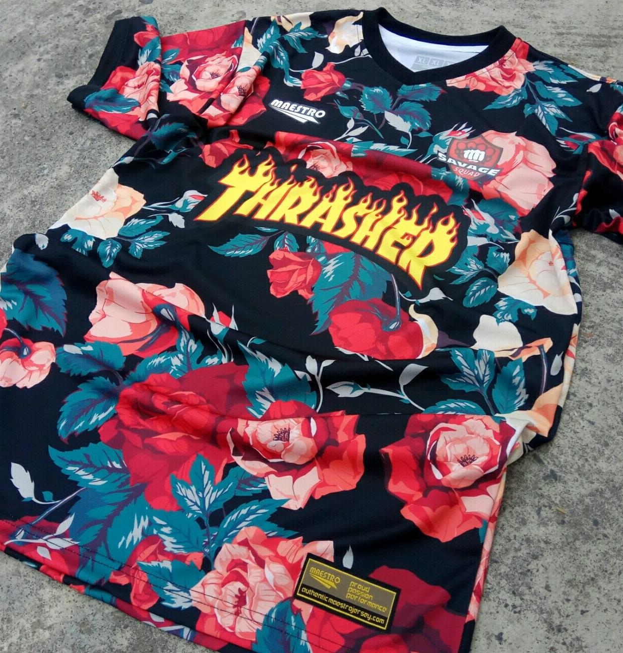 jersey motif bunga